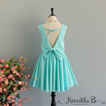 Party Angel Dress Mint Blue Backless Party Dress Blue Backless Dress Prom Party Wedding Cocktail Bridesmaid Dresses Bright Blue Dress XS-XL