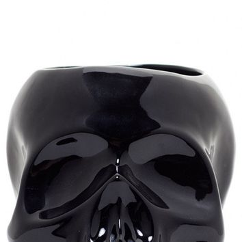 Skull Planter in Black | Blame Betty