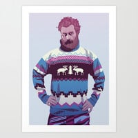 GAME OF THRONES 80/90s ERA CHARACTERS - Tormund Art Print by Mike Wrobel