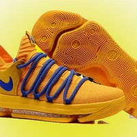 Nike KD 10 Yellow Blue For Sale