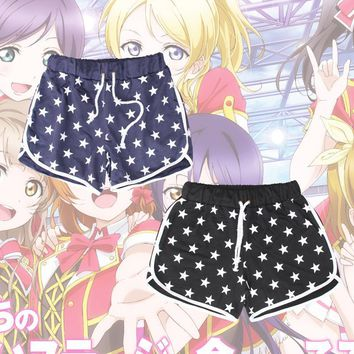 Anime LoveLive! School Idol Project Group u's Shorts Cosplay Costume Love Live Minami Kotori Daily Casual Short Sport Pants
