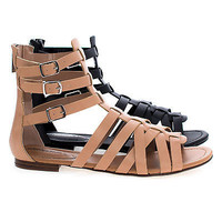 Covina Fashion Gladiator Strappy Flat Sandal For Women