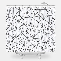 Ab Outlines Shower Curtain