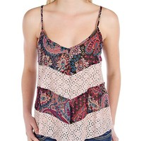 Band Of Gypsies Pieced Tank Top