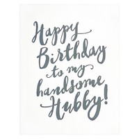 Handsome Hubby Birthday Card