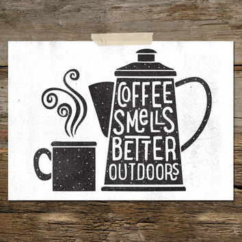 COFFEE SMELLS BETTER  - a4 downloadable print