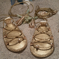 God's Gold Gladiators Sandals made from genuine leather, baby moccasins, Mary Janes baby girl sandals