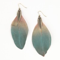 With Love From CA Tri Color Feather Earrings - PacSun.com