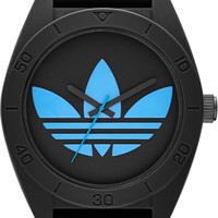 Adidas Santiago XL Black Dial Black Rubber Strap Mens Watch ADH2882
