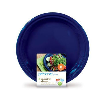 Preserve On The Go Large Reusable Plates - Midnight Blue - 8 Pack - 10.5 In