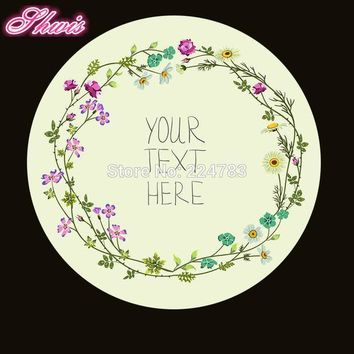 100pcs Custom Wedding Stickers  Paper Seals Bakery Stickers Wedding Decoration Christmas Gifts Can Show Any Text