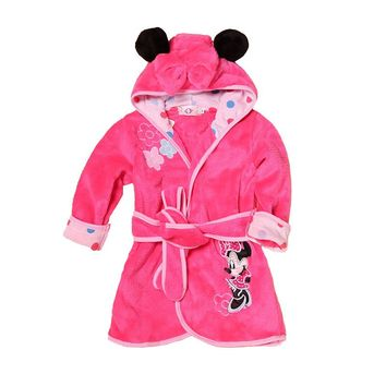 Kids Boy Girl Robes Cartoon Child Hoodie Robes Flannel Lovely Animal Bathrobe Child Clothes Bath Robes Baby Boys Girls Clothing
