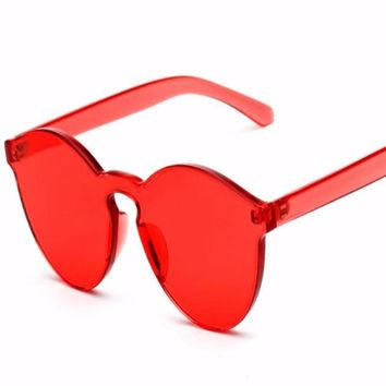Candy Color Cat Eye Keyhole Sunglasses UV400