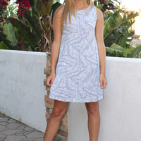 Hourglass Grey and White Print A Line Summer Dress