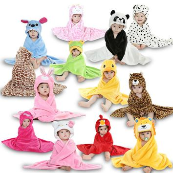 Boy Girl Blanket Washcloth Toallas Autumn Winter Children Clothing Swaddle Stuff Bath Baby Towel Newborn Infantil Kids Clothes