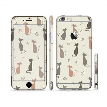 The Vintage Solid Cat Shadows Sectioned Skin Series for the Apple iPhone 6s Plus