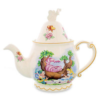 disney parks alice in wonderland porcelain teapot new with box