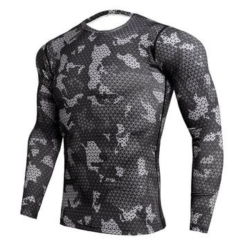 Rashgard Compression Shirt Sports Running Shirt Men Fitness Gym Bodybuilding Dry Fit Men Running Shirts Tops Sport Tee Shirt
