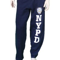 NYPD Mens Sweatpants Training Pants Licensed Police Navy Blue