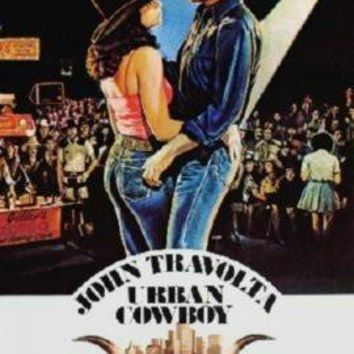 Urban Cowboy Movie poster Metal Sign Wall Art 8in x 12in