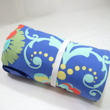 Floral Changing Mat, Blue Diaper Changing Mat, Amy Butler Love