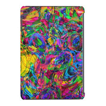 Colorful Modern Glitter Abstract Stripes Pattern iPad Mini Covers