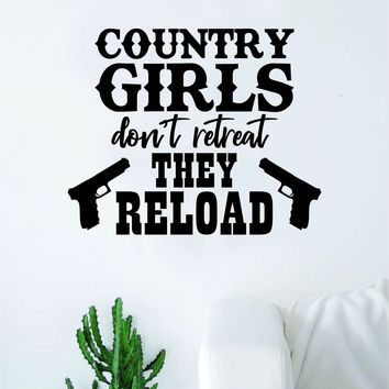 Country Girls Wall Decal Decor Art Sticker Vinyl Room Bedroom Teen Kids Nursery Cowboy Cowgirl Southern America