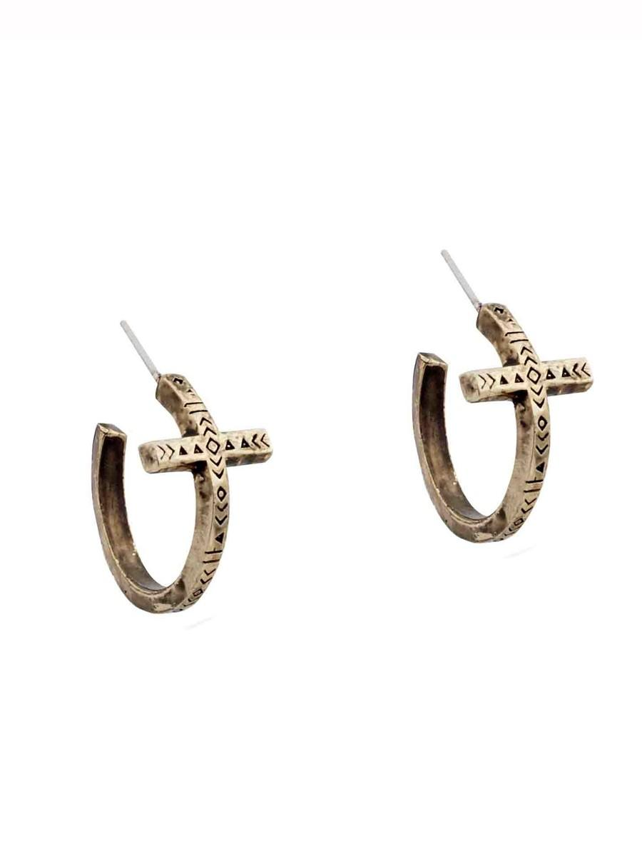 house of harlow 1960 jewelry cross hoop from house of
