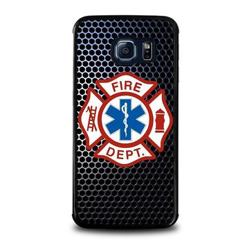 emt ems fire department samsung galaxy s6 edge case cover  number 1