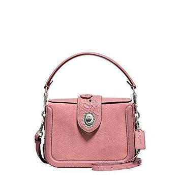Coach Womens Tea Rose Tooling With Applique Page Crossbody