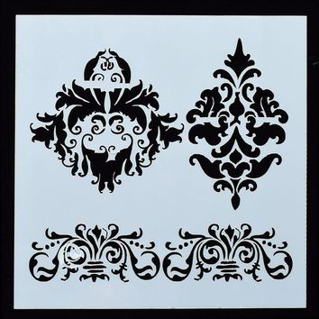 1PC CROWN Flower Shaped Reusable Stencil Airbrush Painting Art DIY Home Decor Scrap booking Album Crafts