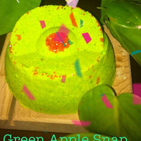 Green Apple Snap Crackling bath bomb Aromatherapy your way, vegan , essential oils