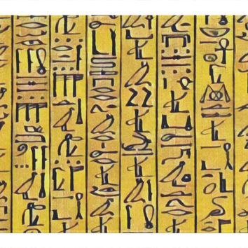 Egyptian Hieroglyphics (gold) Woven Placemats