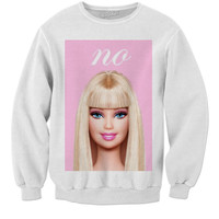 No Barbie sweatshirt
