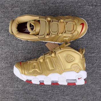 Nike Air More Uptempo 96 Gold 921948-100 Size 36---46