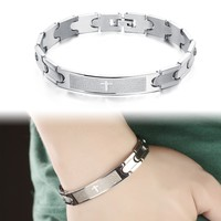 Stylish Great Deal New Arrival Hot Sale Shiny Awesome Gift Stainless Steel Jewelry Men Bracelet [10783261059]