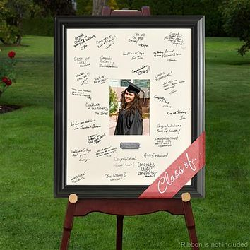 Personalized Free Signature Celebration Frame - Graduation Wedding Anniversary Baby Quinceanera Bar-Bat Mitzitvah