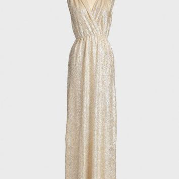 spark of light metallic maxi dress at ShopRuche.com