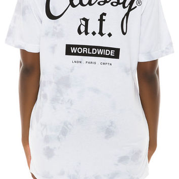 The Classy AF Oversized Tie Dye Tee