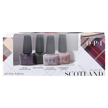 OPI Nail Lacquer - Scotland Nail Lacquer 4PC Mini Pack