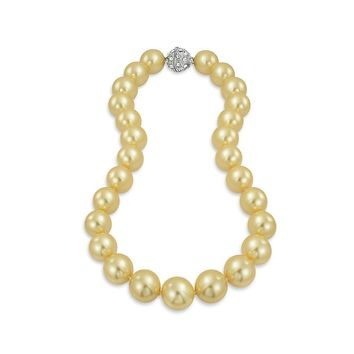 Champagne Strand Necklace Silver Plated Crystal Clasp Pearl 1