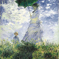 Woman With Parasol Poster by Monet