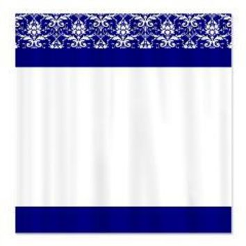 Blue and White Victorian Pattern Shower Curtain> Shower Curtains> We Tees You