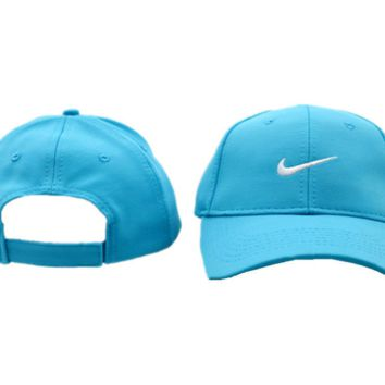 Sky Blue Nike Embroidered Unisex Adjustable Cotton Sports Cap Hat