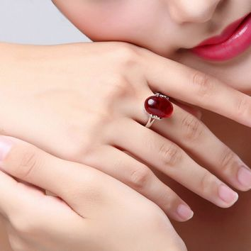 Adjustable Oval Rings, 4 Colors.