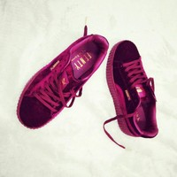 PUMA Women Casual Running Sport Shoes Sneakers Wine red G