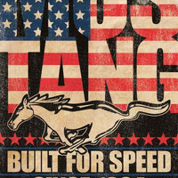 Ford Mustang Built for Speed Poster 24x36