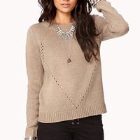 Perforated Button Back Sweater