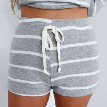 Cool & Casual Shorts: Grey/White