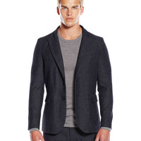 Barracks Blazer - Grey Herringbone